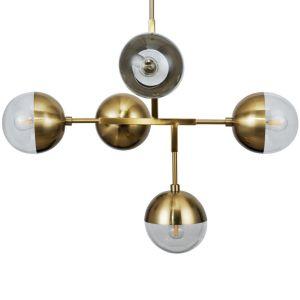 Hanglamp Globular Metaal Antique Brass