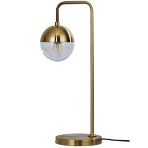 Tafellamp Globular Metaal Antique Brass